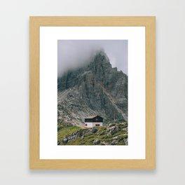 Hut at Locatelli Framed Art Print