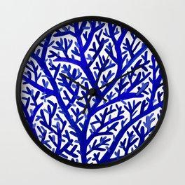 Fan Coral – Navy Wall Clock