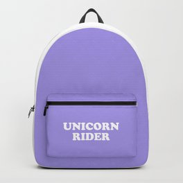 Unicorn Rider Cute Quote Backpack