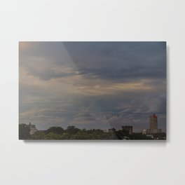 Clouds over Wacotown Metal Print