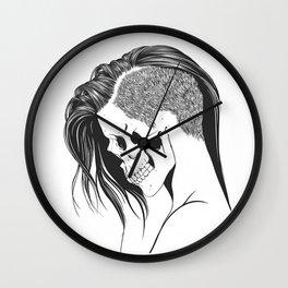 women skull  Wall Clock