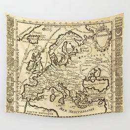 Vintage Map of Europe Wall Tapestry