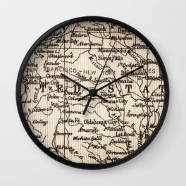 Let's Go Get Lost in the USA Wall Clock