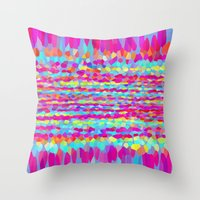 fringe Throw Pillows featuring Fringe by Mistflower