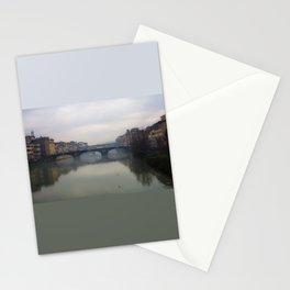 Bridge Gap Over Arno Stationery Cards