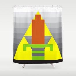 8-Bit Hero Shower Curtain