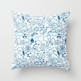 School chemical pattern #2 Throw Pillow