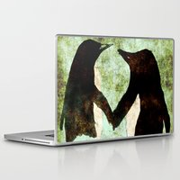 penguins Laptop & iPad Skins featuring Penguins by James Peart
