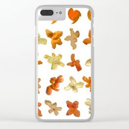 Orange Peel Party Clear iPhone Case
