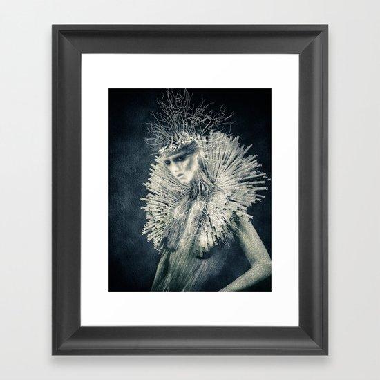 Dark Portrait III  (colour option) Framed Art Print
