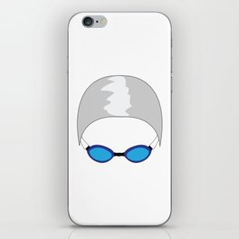 Swim Cap and Goggles iPhone Skin