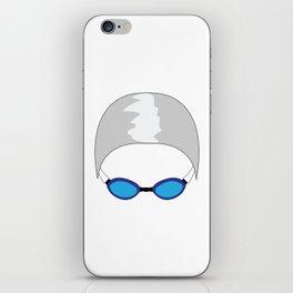 Swim Cap and Goggles iPhone Skin