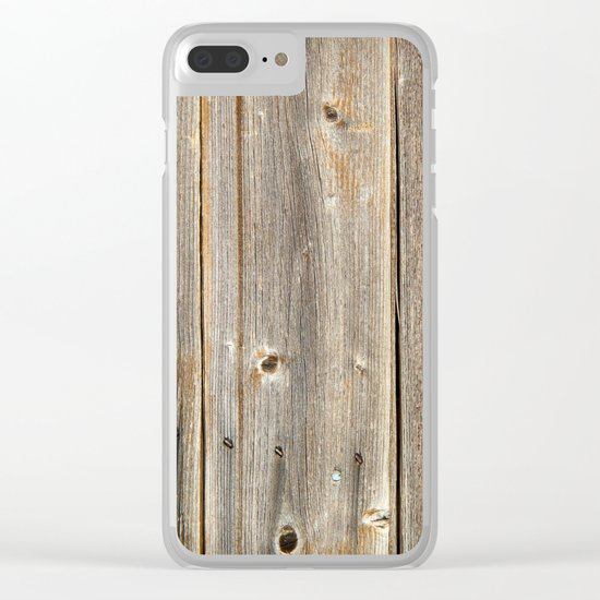 Old Rustic Wood Texture Clear iPhone Case