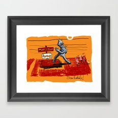 the trapping of the peace monster Framed Art Print