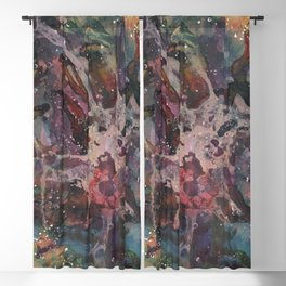 Paint splatter abstract Blackout Curtain