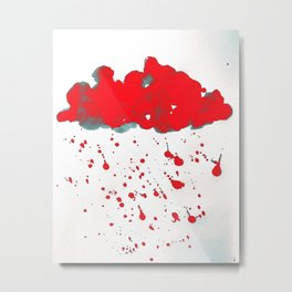 Red Red Clouds Metal Print
