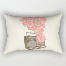 BIG ASS BOOMBOX FESTIVAL 2014 - alt Poster Rectangular Pillow