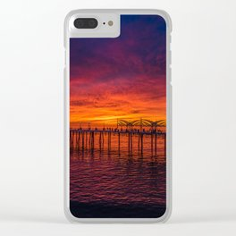 Redondo Pier Sunset Clear iPhone Case
