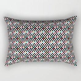 Muted Yellow and Pink Geometric Art Deco Rectangular Pillow