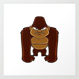 geometric gorilla Art Print