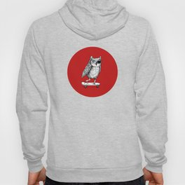 Ride On Owl_red Hoody