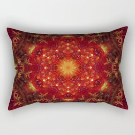 Royal Star Crest Mandala Rectangular Pillow