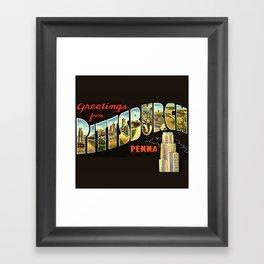 Pittsburgh Postcard Framed Art Print