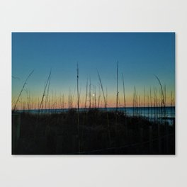 Full Moon Rise at Sunset Canvas Print