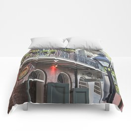 New Orleans Pirates Alley Streetlamp Comforters
