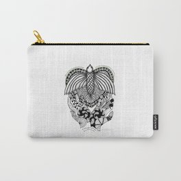 This goodbye is not forever Sympathy  - Zentangle Illustration Carry-All Pouch
