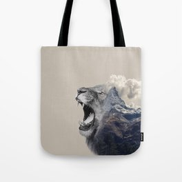 Mountain Lion Face Tote Bag