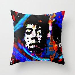 GUITAR MAN:  MUSIC DOESN'T LIE Throw Pillow