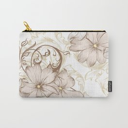 Classic pastel pattern with flowers Carry-All Pouch