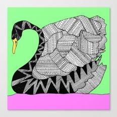 swan square Canvas Print