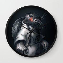 Kung Fu Birdie Wall Clock