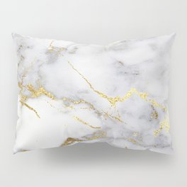 Italian gold marble Pillow Sham