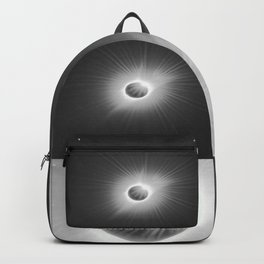 Total Solar Eclipse Illuminated by Sun  Backpack