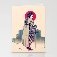 sword Stationery Cards featuring Dude&Sword by Aleksander Rostov