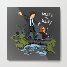 Sculvin and Mobbes Metal Print