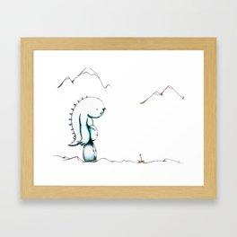 Sad Monster Framed Art Print