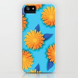 Dandelions on Aqua - Midcentury Style iPhone Case