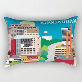 Birmingham, Alabama - Skyline Illustration by Loose Petals Rectangular Pillow