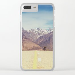 Long Mountain Road Clear iPhone Case