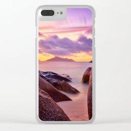 between Clear iPhone Case