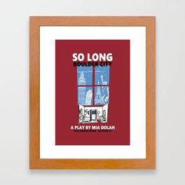 SO LONG BOULDER CITY Framed Art Print