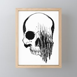 Skull (Distortion) Framed Mini Art Print