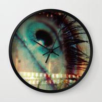 movie poster Wall Clocks featuring Movie! by Angelo Cerantola