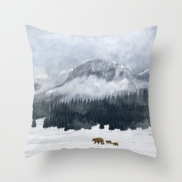 nature will find a way Throw Pillow