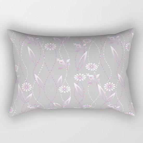 Gray lilac floral pattern . Rectangular Pillow