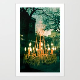 City Chandelier Art Print